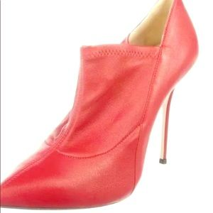 ❤️ Sexy Casadei red booties size 8.5 nwb
